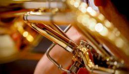 Brass instrument close-up