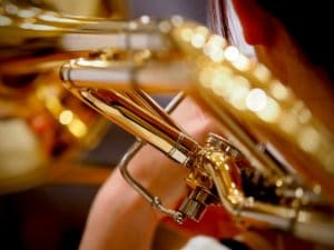 Brass instrument close-up