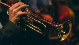 Trumpet being played