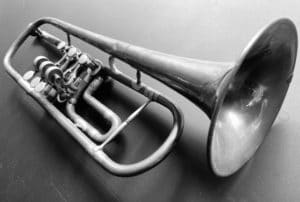 View of a trumpet